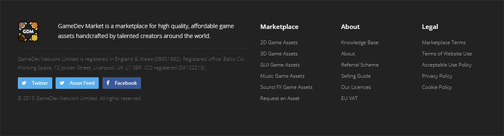 GameDevMarket homepage