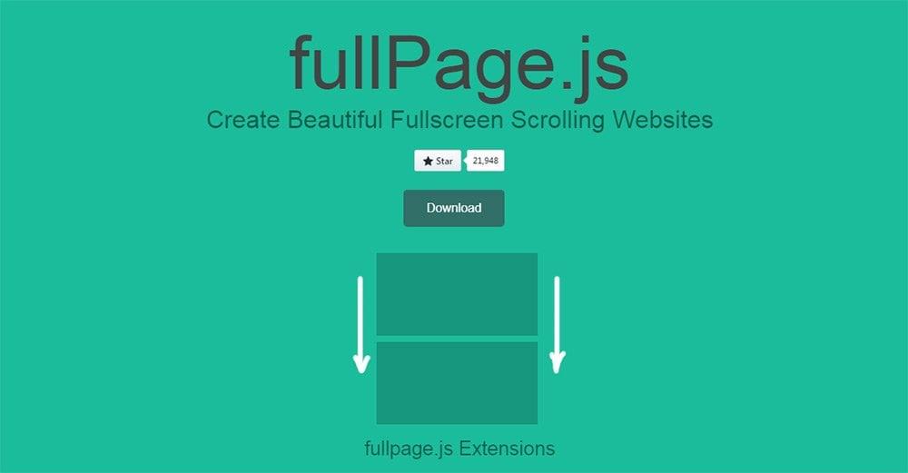 fullpage.js脚本