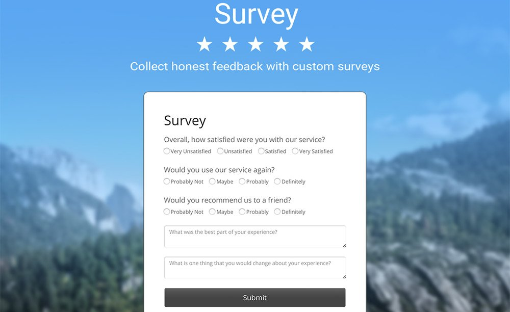 Powr Survey plugin