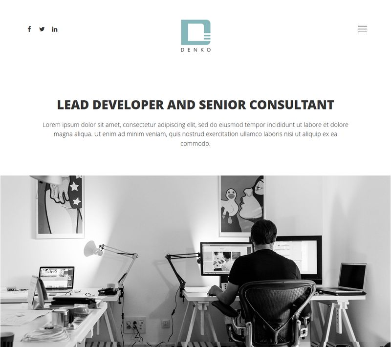 Denko WordPress Theme Homepage Design