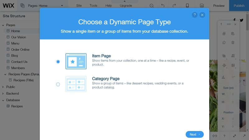 Wix Code Create Dynamic Page