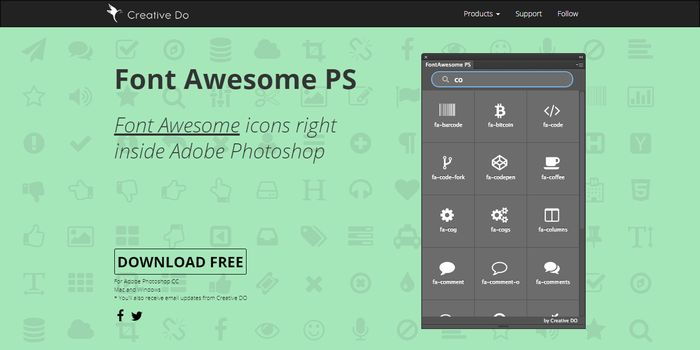 Font Awesome PS - Best Photoshop Plugins