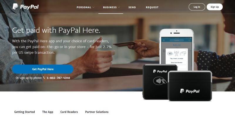 PayPal商业登陆页面