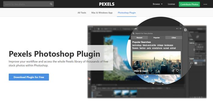 Pexels - Best Photoshop Plugins