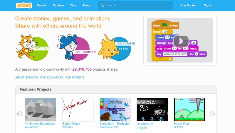 Coding Apps for Children - Scratch