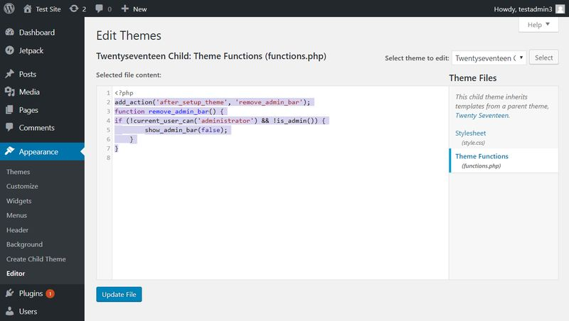 Add Custom PHP Code in Theme Editor