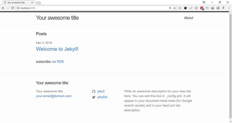 Basic Jekyll Blog