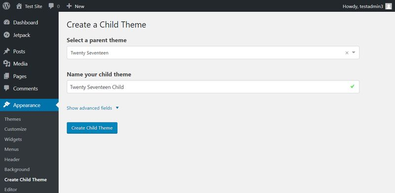 Add Child Theme to WordPress with Child Themify