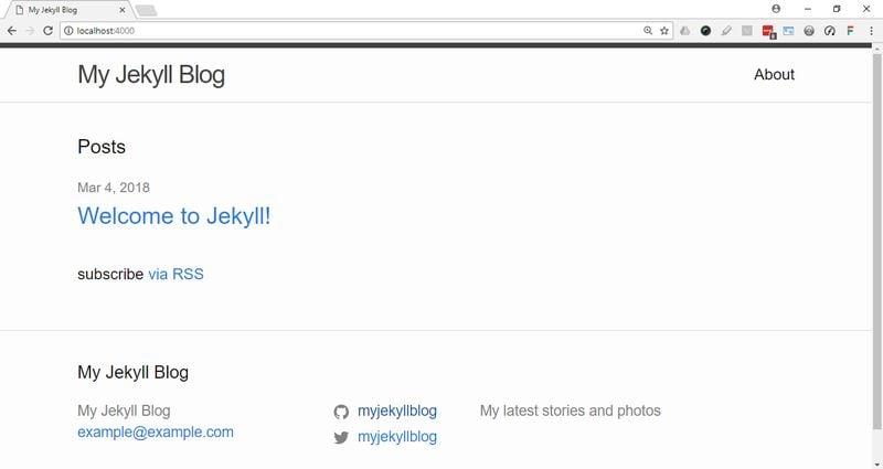 Updated Jekyll blog