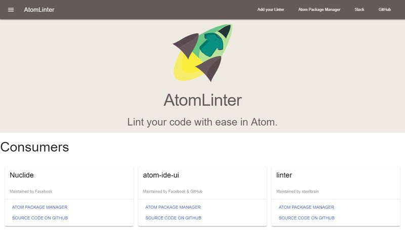 AtomLinter - Best Atom Packages
