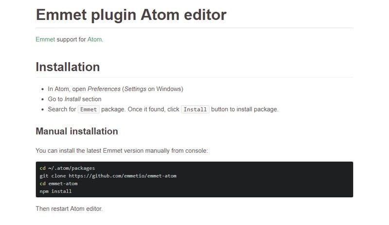 Emmet for Atom - Best Atom Packages