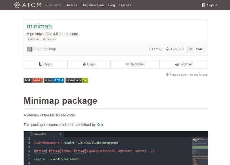 Minimap - Best Atom Packages