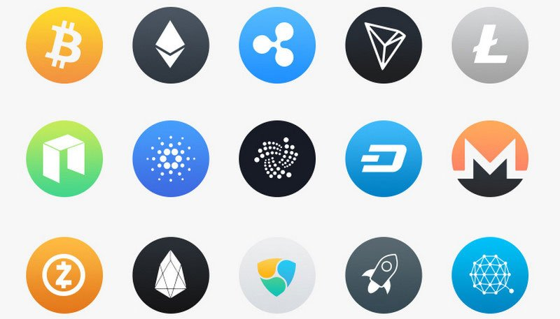 20 Free Cryptocurrency Icons