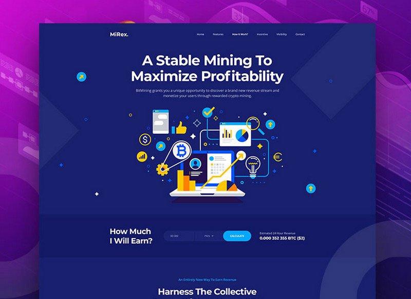 Bitcoin Mining Platform Website by Shuvo Huq