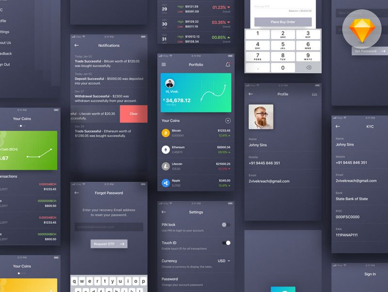 Crypto Wallet App Concept by Vivek Karthikeyan