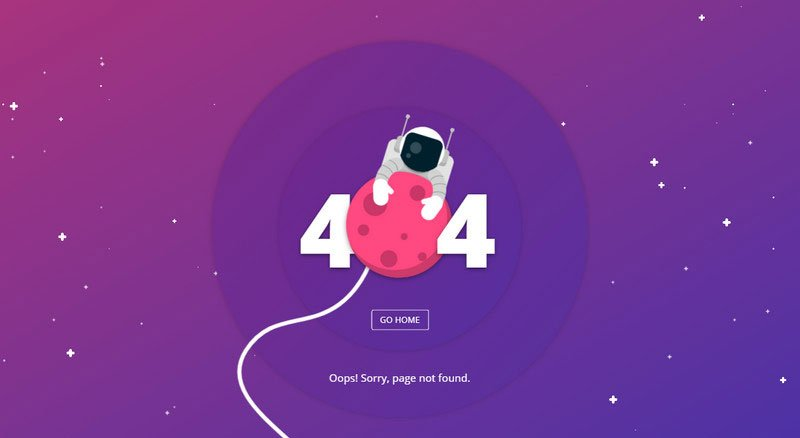 Error 404 Page With Astronaut by Filip Vitas