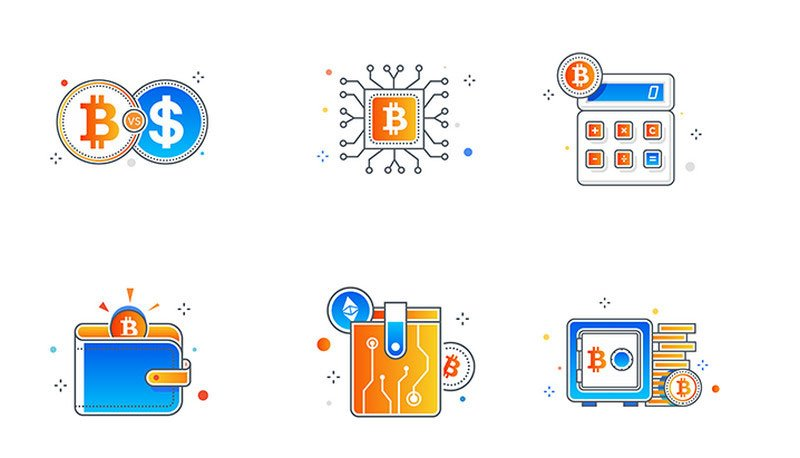 Flat Icons of Bitcoin & Cryptocurrency by Manish Prajapati