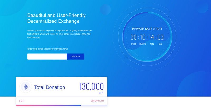 Free ICO Crypto Currency Website Template by Olga