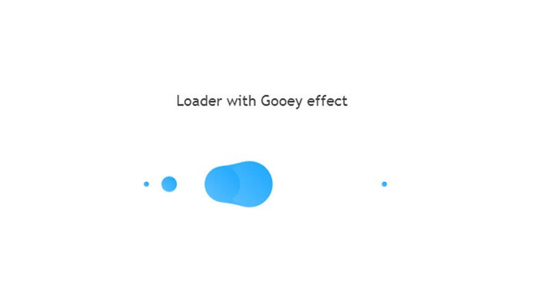 Loader with Gooey effect by Julia Rechkunova