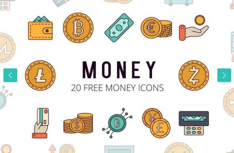 Money Vector Free Icon Set