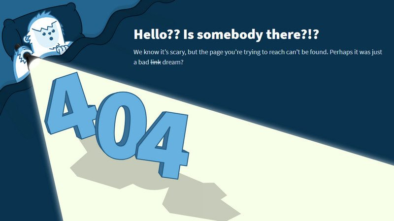 Yeti 404 Page by Darin