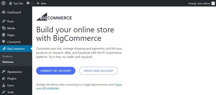 Connect BigCommerce to WordPress