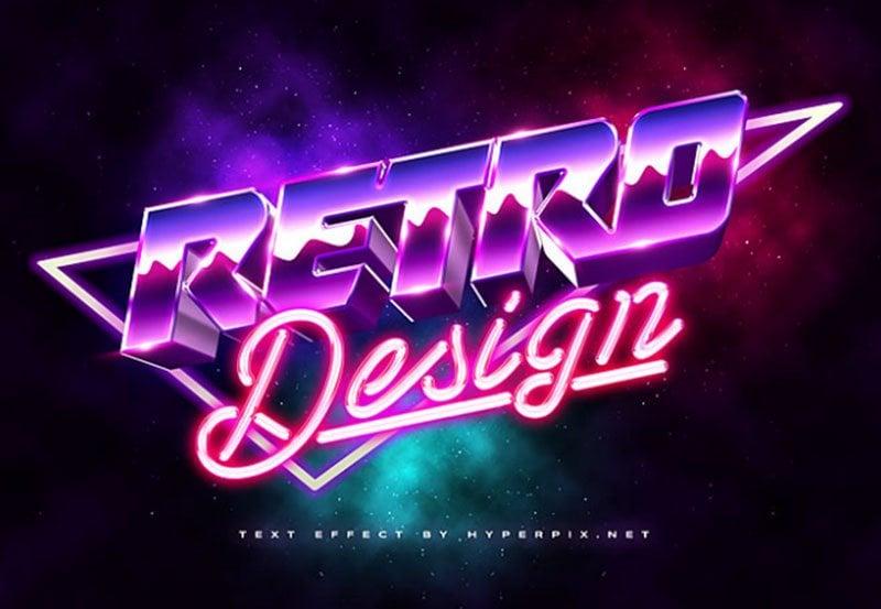 3D 80s Text Effect