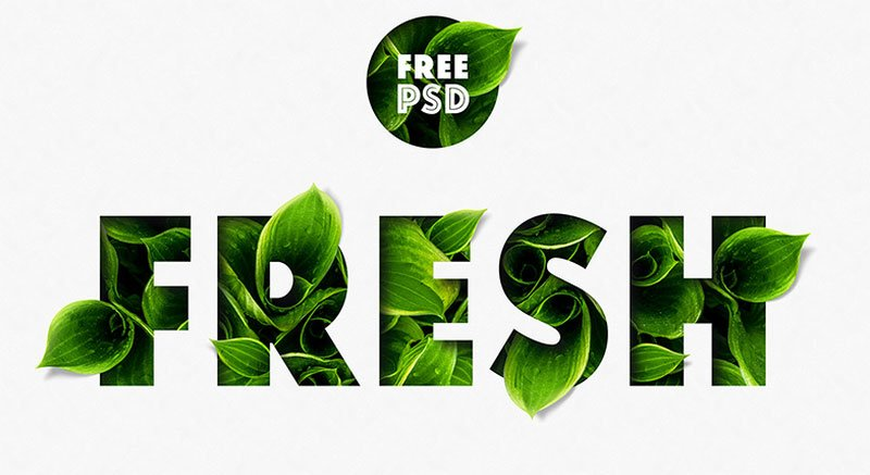 Fresh free Photoshop text effect