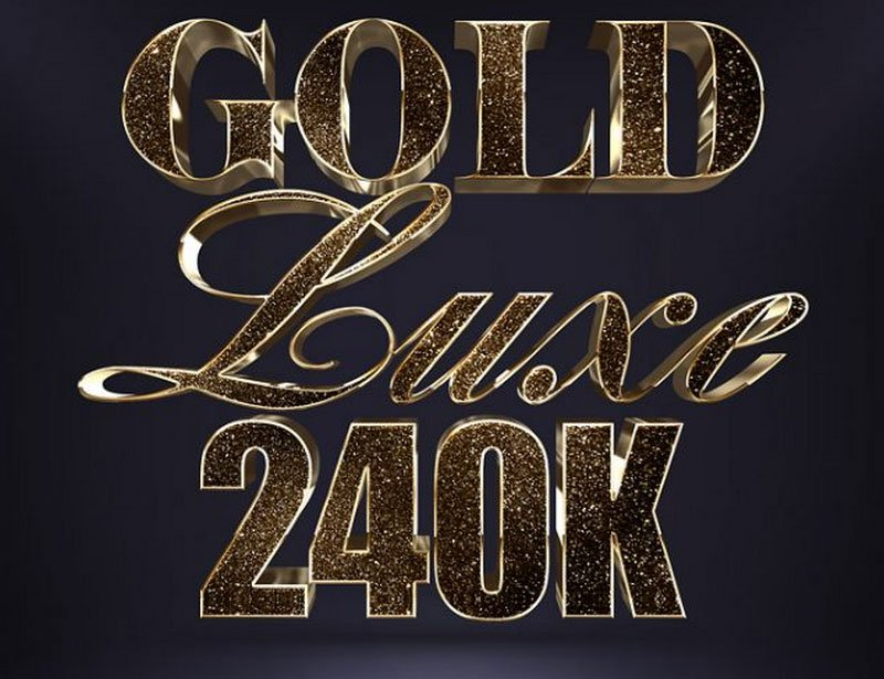 Glitter Gold 3D Text Effect Vol.1