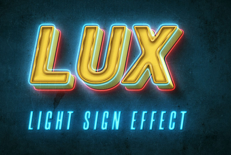 Best Free Photoshop text effects: LUX