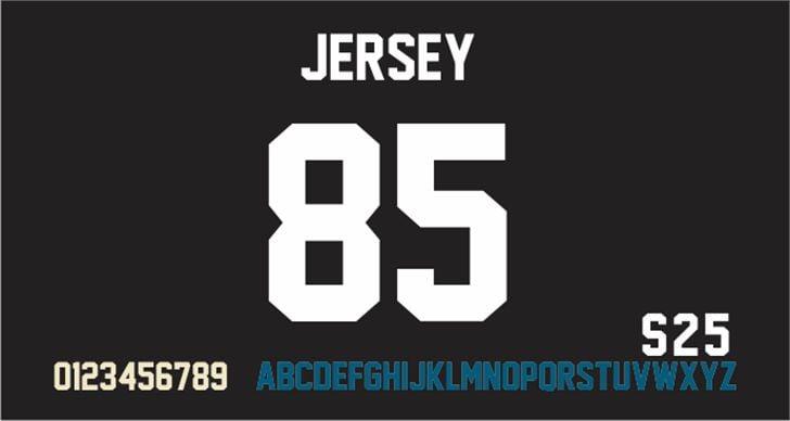Jersey M54 font