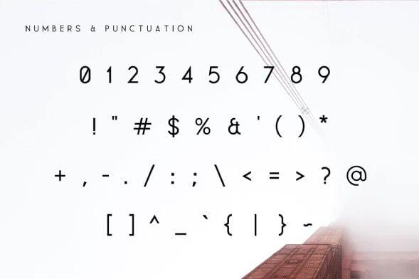Contemporary Modern Font