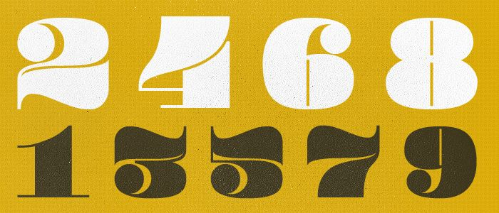 Best Number Fonts: Pompadour Numerals