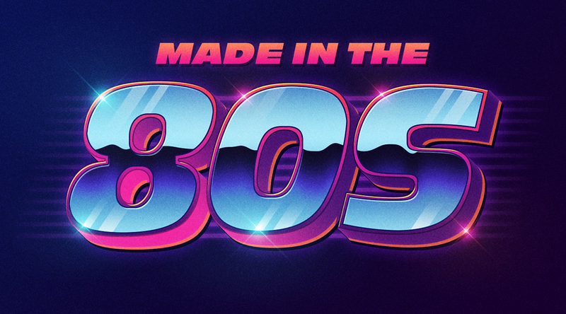 80s Style Text Mockup by STATE7 STUDIO