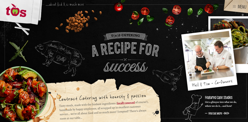 TnS Catering - best examples of food websites