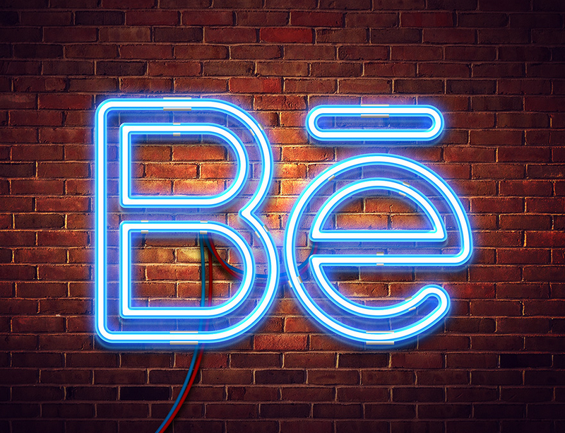 Neon mock-up by Lil Bro