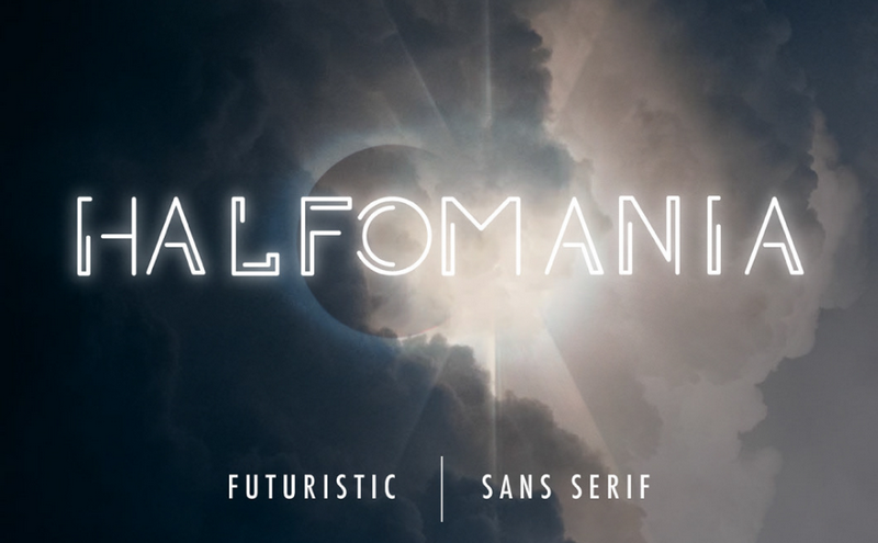 Halfomania is one of the best futuristic fonts