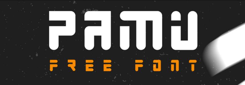 Pamu – free font