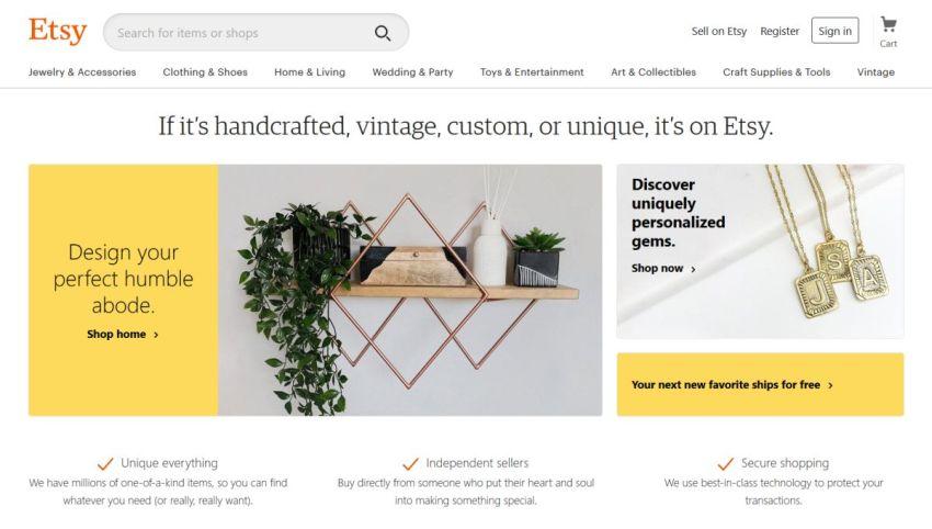 Etsy marketplace
