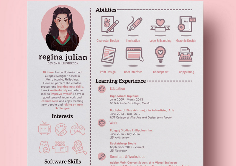 CV template by Regina Julian