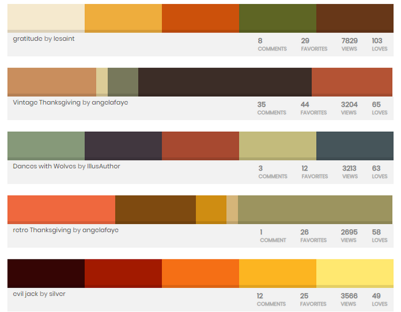Colourlovers to prepare web design for Thanksgiving