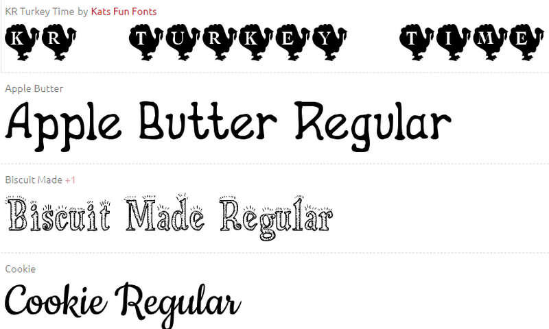 Regular Thanksgiving Fonts