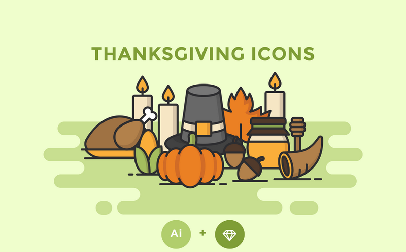Thanksgiving Icons by WDD