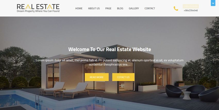 Real Estater real estate WordPress theme
