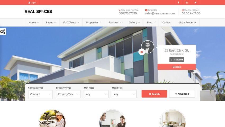 Real Spaces Real Estate WordPress Theme