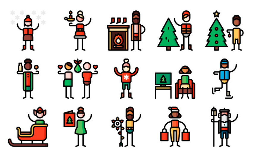 Free Christmas Pictogram Collection