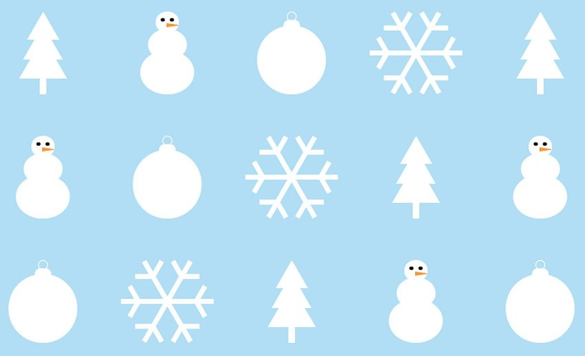Christmas Background in Pure CSS
