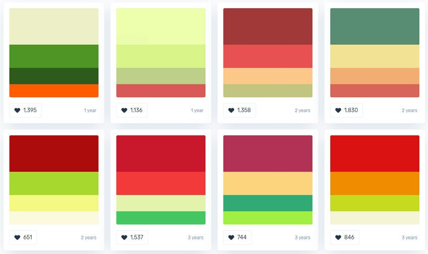 Color Palettes for Christmas Web Design