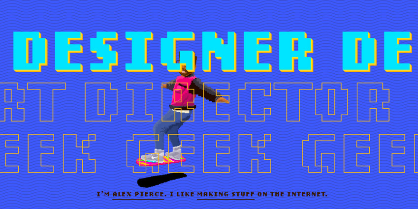 The Geek Designer is a great example of cyberpunk design
