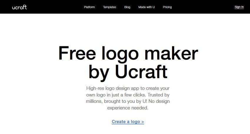 Ucraft logo maker app